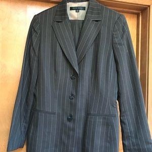 Anne Klein Pinstripe Dark Woman's Suit